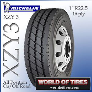 Semi Truck Tire 11R22 5 Tire Michelin XZY3 16 Ply