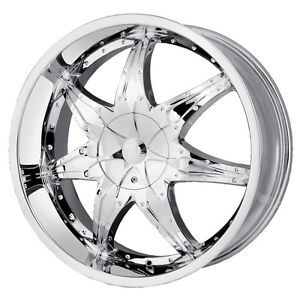 22 inch DIP Libra Chrome Wheels Rims 5x115 300C Charger Magnum Challenger