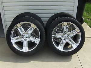 "2012 Dodge RAM R T Sport 22"" Chrome Wheel Tire Package Dealer Take Offs 0 Miles"