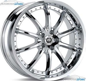 20x8 5 Enkei LF 10 5x110 40mm Chrome Rims Wheels inch 20""