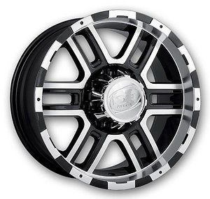 "5 17"" ion 179 Black Wheels 5x127 Jeep Wrangler JK 33"" Toyo AT2 Tires Package"