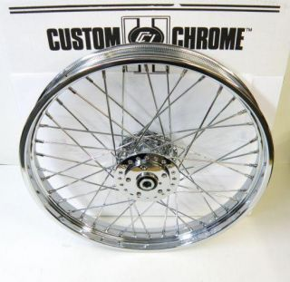 21 x 2 15 40 Spoke Custom Chrome Front Wheel Harley Sportster Dyna FX FXR 84 99