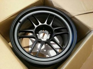 "18"" Enkei RPF1 18x10 5 15 5x114 3 1 Lightweight Wheel Rim Matte Black New JDM"