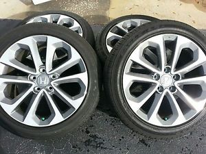 2014 Honda Accord Sport Wheels Rims Enkei Factory 235 45 18 Goodyear Tires