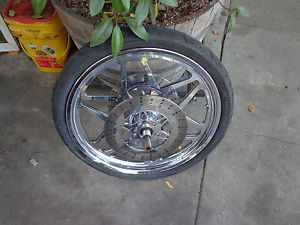 Harley Pro One Chrome Custom Billet 21 inch Front Wheel Touring Softail Dyna