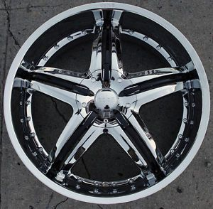 "Dolce DC26 22"" Chrome Rims Wheels Dodge Magnum AWD V6 V8 22 x 9 0 5H 35"