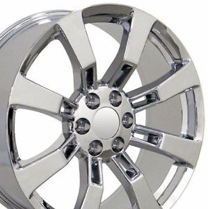 "Set of 4 22"" Cadillac Escalade Replica Chrome Alloy Wheels Rims 22x9 Chevy New"