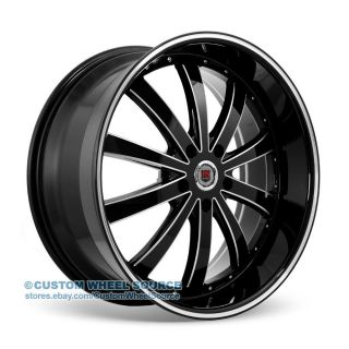 "22"" Redsport RSW77 Black Wheel Tire Package for Dodge Ford GMC Hummer Lincoln"