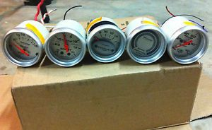 5 Used Auto Meter Pro Comp Ultra Lite Gauges 4391 4375 4345 4301 4363