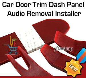 4pcs Red Auto Car Radio Door Clip Panel Trim Dash Audio Removal Installer Tool