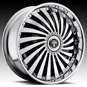"22"" Dub Spin Swyrl Wheel Set 22x8 5 Chrome Spinners rwd 5 6 Lug Rims 22inch"