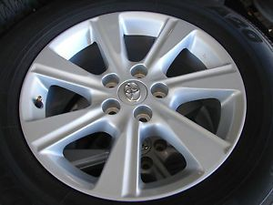 "4 17"" Toyota Highlander 5 Lug 7 Spoke Alloy Wheels Rims Toyo Tires 69580"