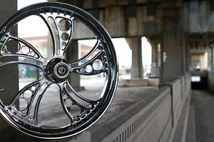"21"" Chrome Custom Motorcycle Wheel for Harley Davidson Bagger Softail"