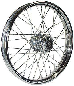 Harley 21 inch Chrome 40 Spoke Front Wheel 1984 1999 FXST Custom Chopper Bobber
