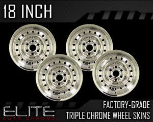 18' Chrome Wheel Skin Covers for 2007 2010 Nissan Titan