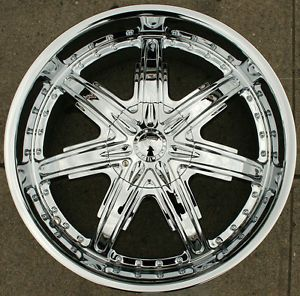 "Devino Sire 700 22"" Chrome Rims Wheels Nissan Altima 02 Up 22 x 8 5 5H 35"