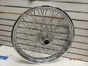 "Chrome 60 Spoke Front Wheel 21"" Harley Wide Glide Softail Custom Chopper FXST FX"
