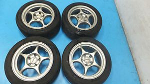 "JDM 15"" Enkei Racing Rims Wheels 5x114 3 15x7 35 Civic Integra EK9 CTR DC2"