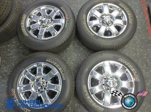 "Four 2013 Ford F150 Factory 18"" Wheels Tires Rims Chrome Clad Michelin 3915"
