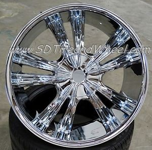 "New 22"" Armano A501 Chrome Wheels Chevy Ford Expedition F150 Navigator 24 Rims"