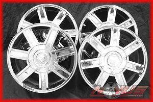 "18"" Cadillac Escalade Tahoe Silverado Chevy GMC Factory Chrome Wheels 22 20"