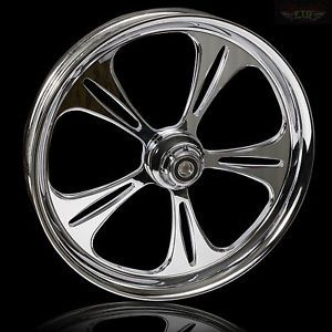 "Harley Davidson 21"" inch Chrome Wheel "" The Raptor"" Harley Custom Wheel"