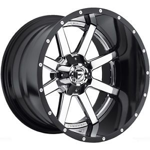 20x10 Chrome Fuel Maverick Wheels 5x5 5 5x150 19 Lifted Ford F 150