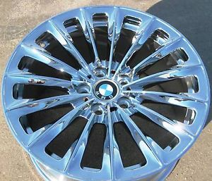 "Exchange 4 19"" Factory BMW 535i 550i 740i 750i 750LI 760i Chrome Wheels Rims"