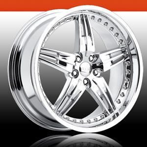 "19"" FOOSE DF5 Chrome Wheel Set"