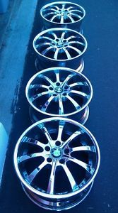 "BMW M Rims Wheels Set of Four Double Spoke 18"" 19"" Wheel Chrome Shadow"