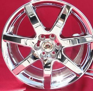 18'' Cadillac cts V New Chrome Wheels Rims Factory Caps Included STS SRX