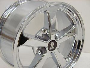 4 AFS Wheels Fits 2005 2013 Ford Mustang Rims 18 x 9 Chrome