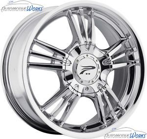 17x7 5 Platinum 122 Wolverine 5x114 3 5x4 5 5x100 42mm Chrome Wheels Rims 17""