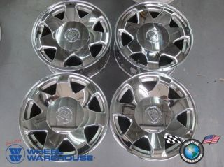 Four 02 06 Escalade Factory 17 Chrome Wheels Rim 4563 Tahoe Suburban 1500