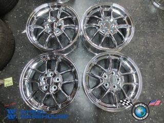"Four 97 05 Mitsubishi Eclipse Factory 17"" Chrome Wheels Rims 65752 Outright"