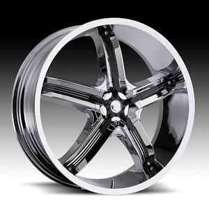 "17"" inch 5x4 5 5x112 Chrome Black Insert Milanni Wheels Rims 5 Lug Acura Dodge"