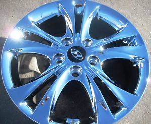 "New 17"" Factory Hyundai Sonata Chrome Wheels Rims 2006 2013 Set of 4"