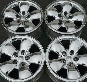 "20"" Dodge RAM Chrome Clad Wheels Set 4 Factory Rims Durango"