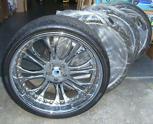 "22"" asanti AF132 Chrome Wheels Rims Tires Perfect Condition BMW 6 Series"