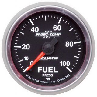 Auto Meter 3663 Sport Comp II Electric Fuel Pressure Gauge