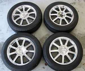 18 Chrysler 300 Chrome Clad Wheels Rims Continental Tires TPMS Set Charger