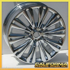 "19"" Jaguar Chrome XF Caravela Factory Wheel Rims 2010 2012 Set of 4"