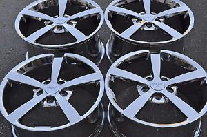 "18"" 19"" Corvette PVD Chrome Wheels Rims 2008 2009 2010 5339 5344"