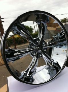 "22"" Chrome Rims Tires 6x135 Ford F150 Lincoln Navigator Ford Expedition"