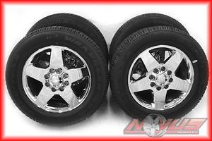 "New 20"" Chevy Silverado GMC Sierra Denali 2500 HD Chrome Wheels Tires 18"