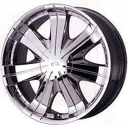 18 inch Alba 580 Force Chrome Rims Tires