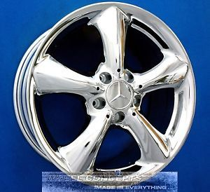"Mercedes C230 17 inch Chrome Wheel Exchange C Class CLK 230 320 350 17"" Rims"