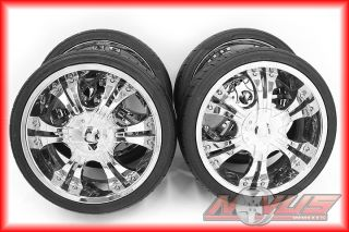 "20"" Shooz Aftermarket Chrome Wheels Tires Nissan Infinity Ford GMC Chevy"