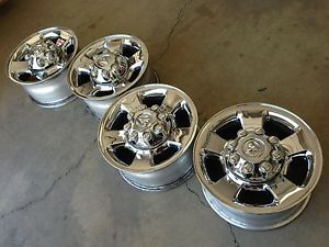 "17"" Dodge RAM 2500 Laramie Cummins Factory Stock Chrome Wheels Rims 8x165"
