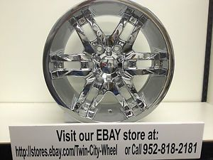 17 inch Chrome Forza 305 Wheels Rims Chevrolet Silverado Tahoe Avalanche 6x5 5